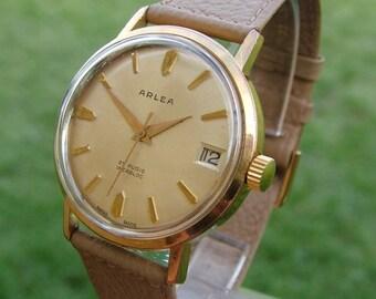 A gents 1950s Arlea wrist watch