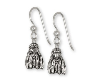 Shih Tzu Earrings Handmade Silver Shih Tzu Jewelry SZ16-E