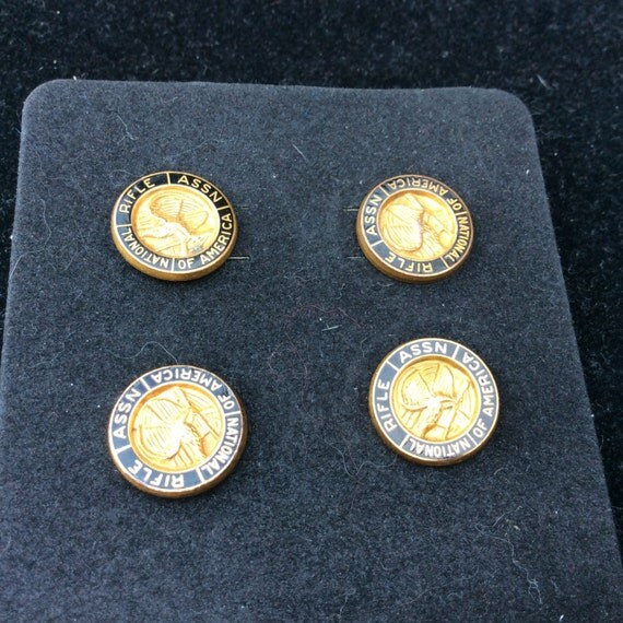 Vintage 1970s, NRA Membership Pin, Collection of 4, 1/20th 10k GF, Clutch Pins
