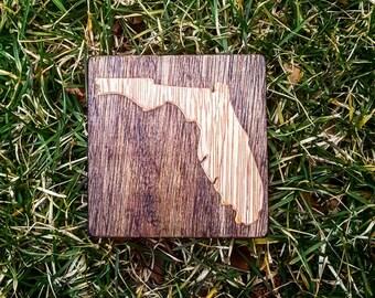 Florida Fridge Magnet, Florida Locker Magnet, Wooden State Magnets, Rustic Florida Magnet