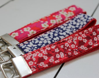 Liberty fabric sturdy key ring