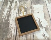 "Set of 6 Framed Square Chalkboard Tags, 2"" X 2"""