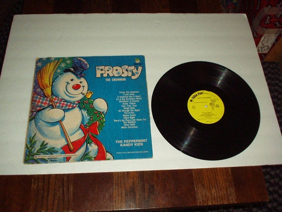 1950 60s Frosty The Snowman Vinyl Record By The Peppermint