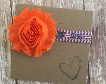 Florida Gators Headband, University of Florida, Gators, FL, Baby Headband, Gators Football