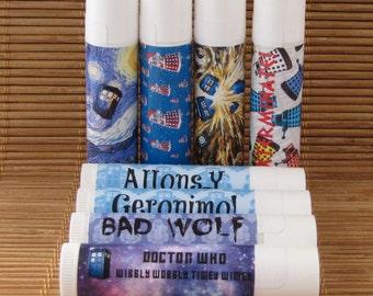 Doctor Who Lip Balm Collection - Over 80 Flavors! - Handmade Lip Balm