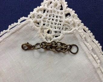 Extender, Antique Brass, Bracelet or Necklace,  Plain, 2.5 in, 63.5 mm