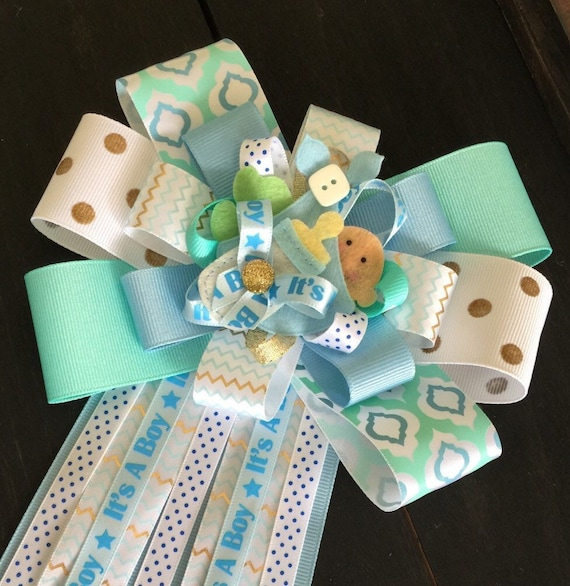 Mums Baby Shower: It's A Boy Baby Shower Mum Corsage For Baby Shower By