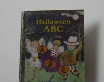 Children's Book Halloween ABC - dollhouse miniature 1:12 scale