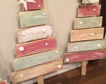 Wooden pallet christmas trees rustic fun decor holiday tree