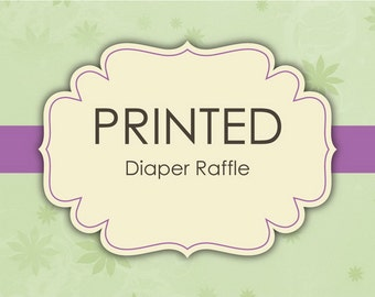 Printed Diaper Raffle Cards