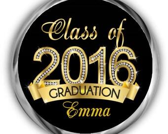 Class of 2017 Graduation Hershey Kisses Stickers - Personalized Graduation Sticker