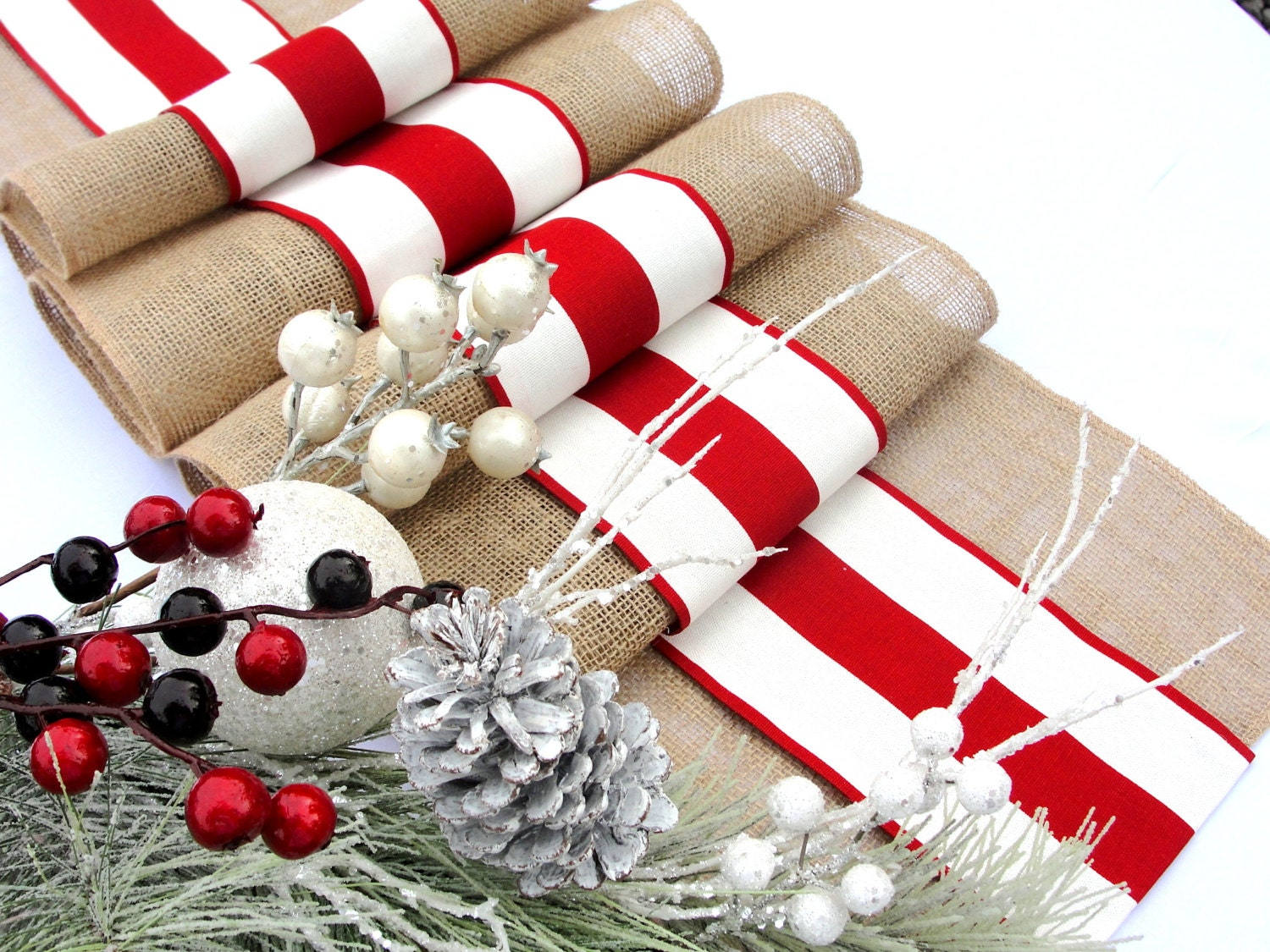 Country Christmas Table Runners Loris Decoration