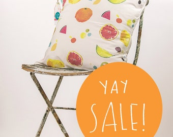 Fruit Salad Cotton Cushion Cover