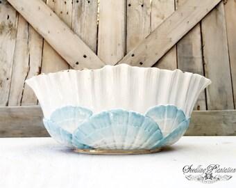 Rare Vintage White Serving Bowl-White Bowls, Ironstone Serving Bowl, Whiteware, White Dishes-French Country Shabby Chic Farmhouse