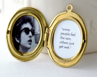 BOB DYLAN lyric quote locket/necklace/poster/art/rock and roll/shirt/poem/accessories