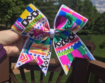 Aztec Pattern Cheer Bow