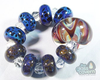 Handmade Borosilicate Glass Bead Set