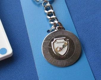 Vintage Bermuda Metal Enameled Souvenir Keychain