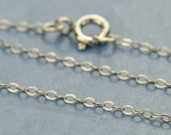 "18"" Sterling Silver Finished Chain"