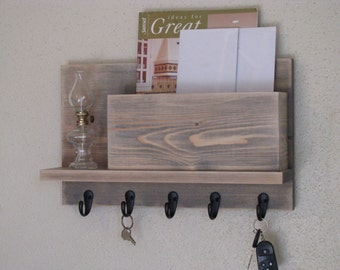 Key and Mail Holder Rustic