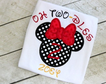 Oh Two dles birthday shirt 2nd birthday minnie mouse oh twodles girls birthday clothing toddler baby first birthday outfit minnie mouse