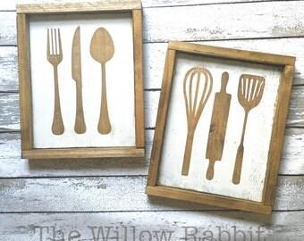 Kitchen Utensil | Utensils | Baking Utensil Sign | Kitchen Decor | Farmhouse Kitchen | Kitchen Utensil Sign