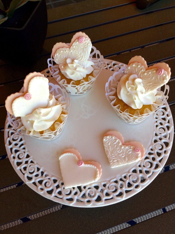 Edible Fondant Wedding cupcake toppers wedding toppers