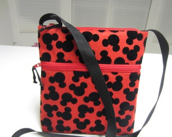 Disney Characters Crossbody Bag, Mickey Mouse Crossbody Bag , Hobo Bag , Hipster Bag