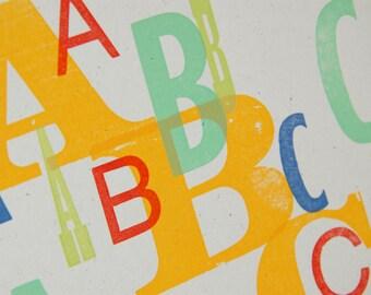 ABC Letterpress Print