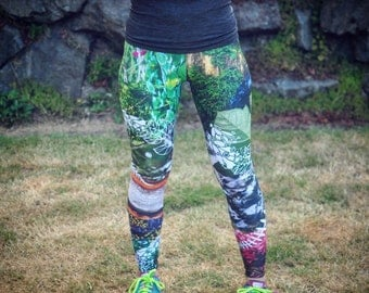 pacific northwest leggings, design by me, crafted by Bombsheller