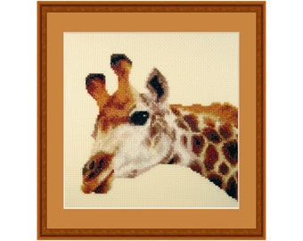 Cross stitch kit Tall Friend, Giraffe, african, animal