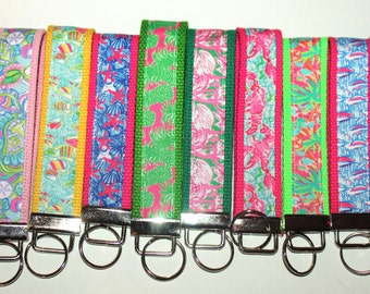 Lilly Pulitzer Inspired Key Chains