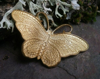 Raw Brass Stamping Butterfly Medium
