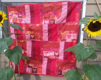 Absolutely darling I Love You Baby/Lap Quilt
