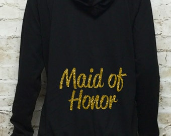 Maid of honor hoodies.Bridesmaid.Bachelorette party.Mother of the Bride Jacket.Bride Hoodie zip Up Hoodie.Bridesmaid..Wedding Bridal Party