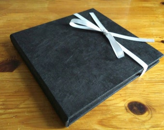 DVD Folio in Black, CD Case, Choice of Outer Lokta, Choice of Ribbon.