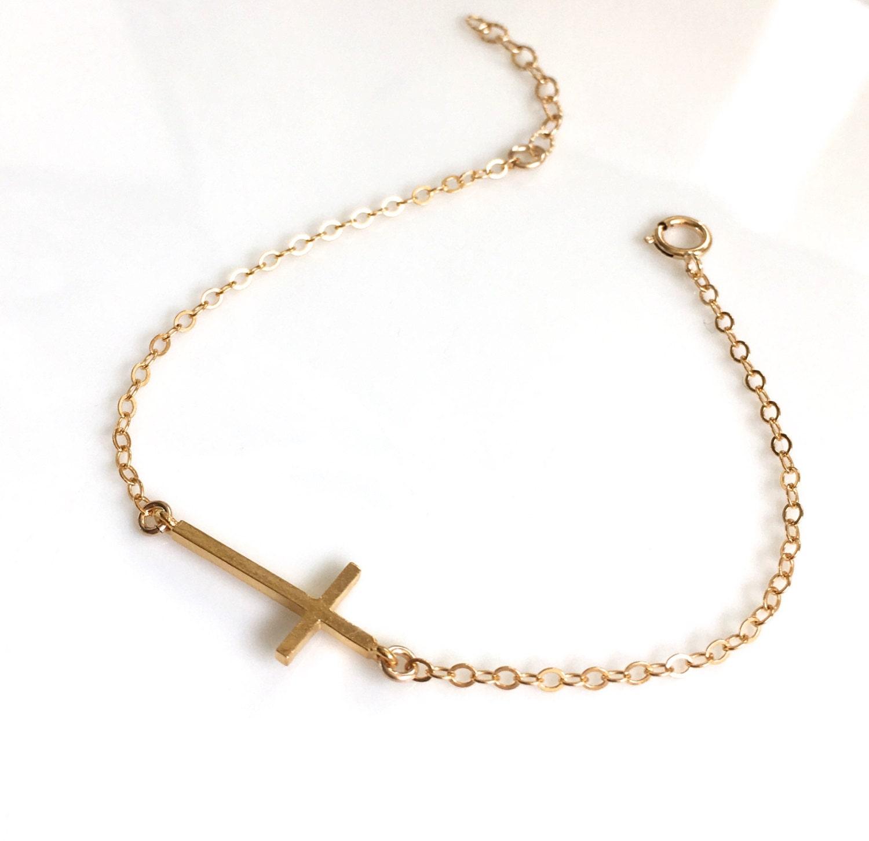 gold vermeil cross bracelet sterling silver cross