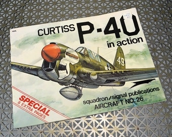 Curtiss P-40 In Action - Soft Cover Squadron/Signal Book 1976