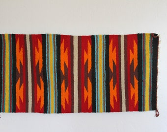 Beautiful Bright Vintage Hand Woven Navajo Rug/Wallhanging