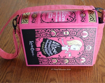 Alice in Wonderland Upcycled Book Purse