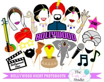 28pc * Bollywood Party Photobooth/Indian Party/Indian Movie Night/ Indian Wedding - DIGITAL FILE