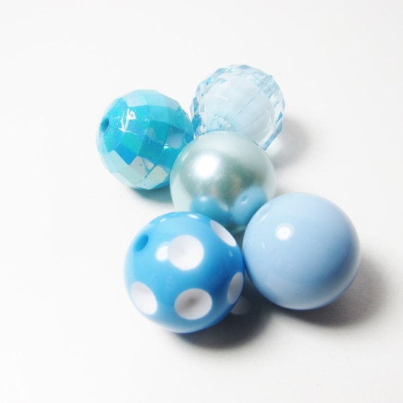 20mm Bead Beads: D-01221 5 Acrylic Beads Bubblegum 20mm