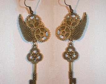 Steampunk earrings handmade/earrings
