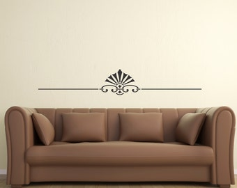 Scroll Embellishment 15... Vinyl Wall Decal Art Deco