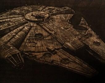 Millennium Falcon - Laser Etching - Science Fiction - Spaceships