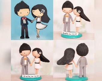 Personalised wedding cake topper - Cartoon cake topper (Free shipping)