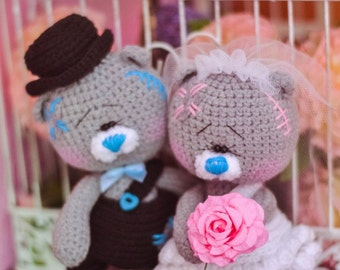 Crochet pattern Wedding bears