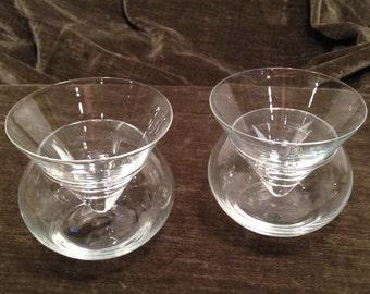 Stemless Martini Glasses