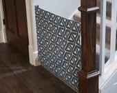 Canvas baby gate  /  Fabric baby gate, Custom fabric gate, Handmade baby gate