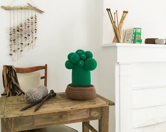 Big crochet cactus, handmade in soft wool